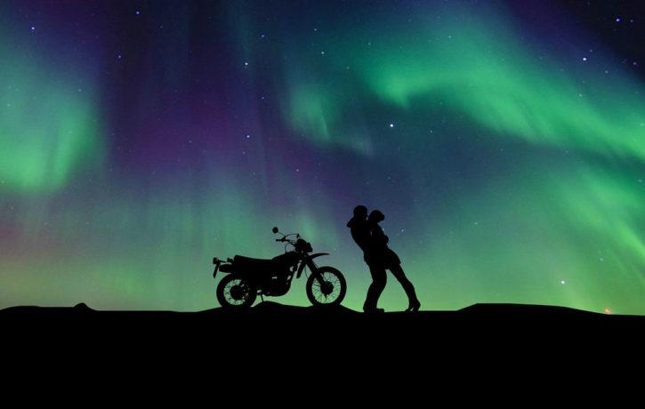 meditation on a motorbike